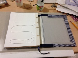 Gluing the hardcover
